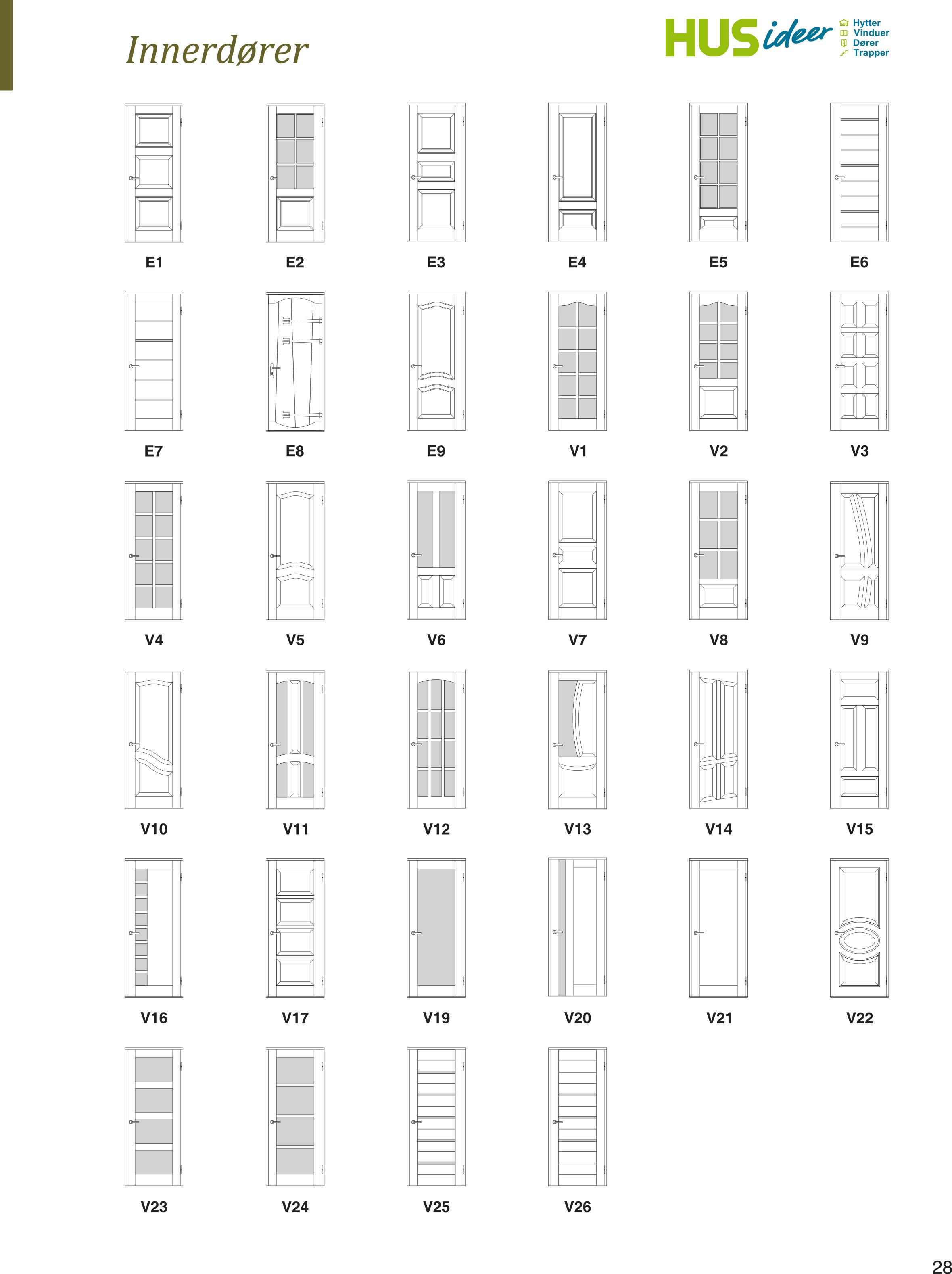 inside door. Inside Door Models Made In FURU, ASK, EIK. I